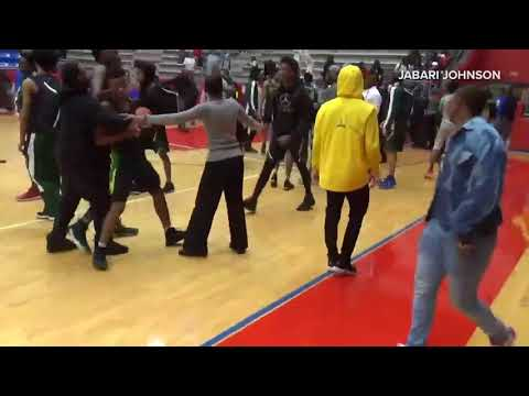 RAW: Brawl Erupts After Duncanville-DeSoto Basketball Game
