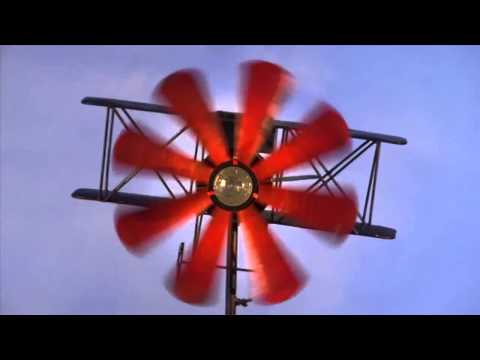 Biplane Metal Wind Spinner-Wind & Weather
