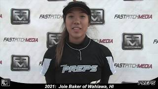 2021 Joie Baker Pitcher and Outfield Softball Skills Video - Easton Preps