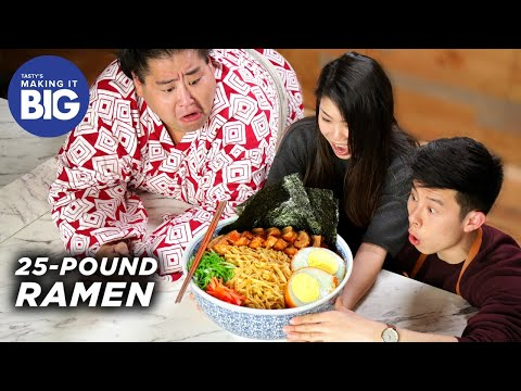 We Made A Giant 25-Pound Ramen Bowl For A Sumo Wrestler  Tasty