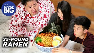 We Made A Giant 25-Pound Ramen Bowl For A Sumo Wrestler • Tasty by Tasty