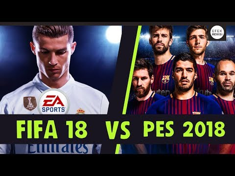 PES 2018 VS FIFA 18 REVIEW INDONESIA
