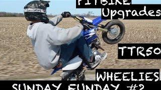 7. CUSTOM TTR50 PITBIKE BUILD! WHEELIES!! SUNDAY FUNDAY #2