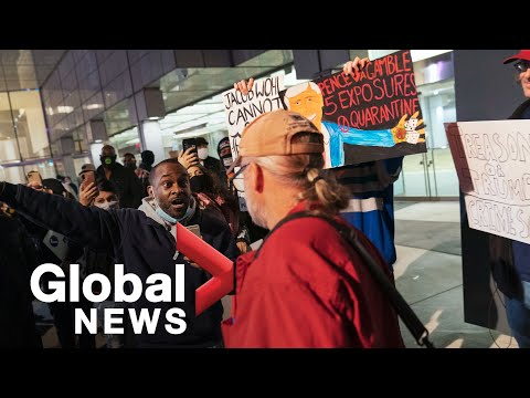 US election: Unrest breaks out at vote-counting facility in Detroit