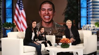 Video Ellen Surprises Military Mom and Daughter MP3, 3GP, MP4, WEBM, AVI, FLV Februari 2018