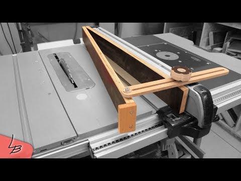 Winkelanschlag für die Tischkreissäge | Damit gelingen auch Winkelschnitte | Lets Ba… видео