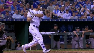 Brandon Moss belts a towering shot into the water in right to extend the Royals' lead to 4-2 in the bottom of the 6th inning Check ...