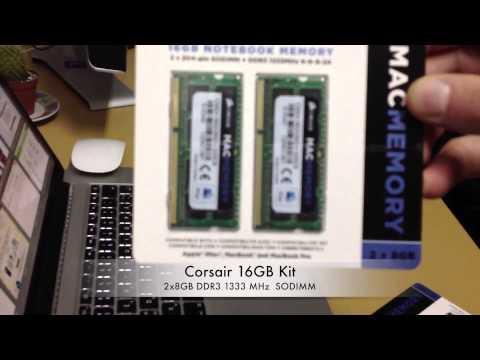 Память для ноутбука Apple Macbook pro Corsair 16GB Kit 2x8GB DDR3 1600 MHz (PC3-12800) 204p SODIMM
