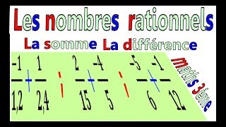 Maths 3ème - Les nombres rationnels Addition et Soustraction Exercice 32