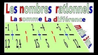 Maths 3ème - Les nombres rationnels Addition et Soustraction Exercice 32