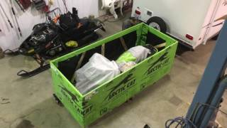 10. Unboxing the new Arctica Cat 2018 ZR 8000 with CTech2 engine