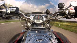 9. Test Ride. Honda VTX 1800C Acceleration. Full stock.