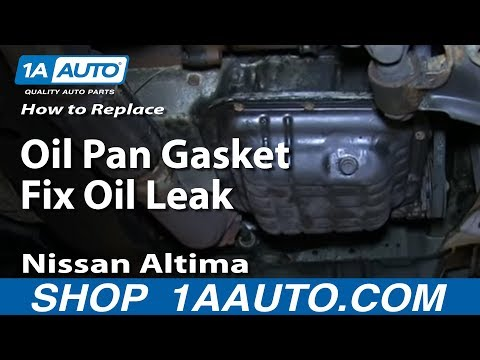 How To Replace Oil Pan Gasket Fix Oil Leak 1998-01 Nissan Altima