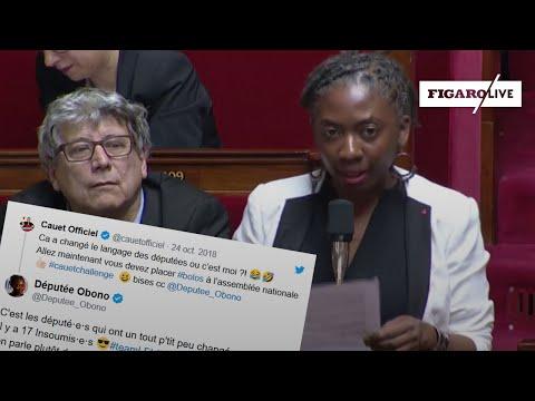 La députée Danièle Obono place le mot «boloss» à l'Assemblée nationale après un pari avec Cauet
