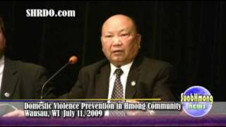 Suab Hmong News: Hmong leader Gen. Vang Pao addressed domestic violence part 1 of 2