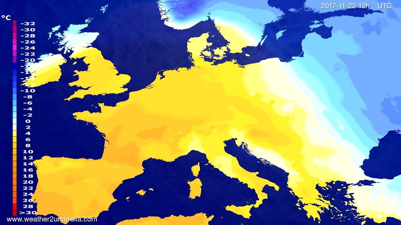 Temperature forecast Europe 2017-11-20