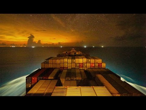 imeLapse of a Container Ship Traveling From Vietnam to