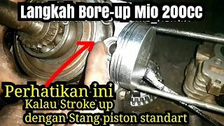 Video Bore up Mio 200cc | cara papas coak piston | Test sebelum dikirim ke Kendari, SulTra MP3, 3GP, MP4, WEBM, AVI, FLV Agustus 2017