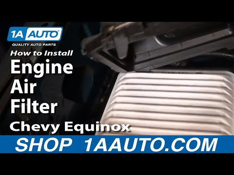 How To Install Replace Engine Air Filter Chevy Equinox 3.4L 05-09 1AAuto.com