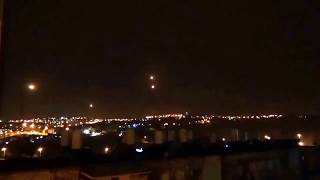 TWO LUMINESCENT ORBS DANCE AND THEN MERGE CREATING A SHOCKWAVE OVER JERUSALEM 01/2017 - MULTIPLE WITNESSES
