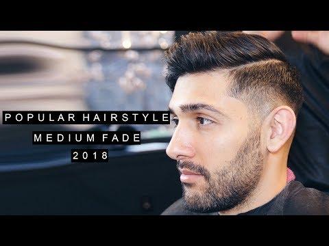 Mens hairstyles - Medium Skin Fade  Quiff Haircut  Side Part  Mens Hair 2018