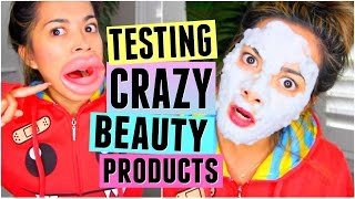 TESTING WEIRD & CRAZY BEAUTY PRODUCTS! by ThatsHeart