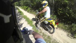 8. 2007 Yamaha YZ250F & 2007 Suzuki DR200 Trail Riding GoPro 3 Hero Black 1080P HD 60FPS PART 1 of 2.