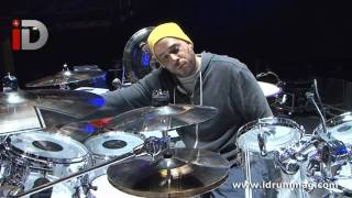 Chad Smith Im With You Drum Kit Tour - Etched Clear Pearl Kit - With Chris Warren iDrum Magazine
