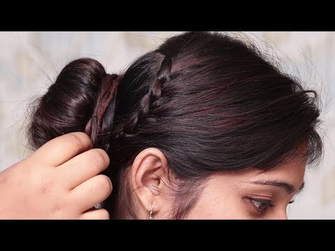 Hairstyles for short hair - Latest hairstyles for party/wedding  Easy hairstyles  Low Bun Hairstyles  Hair style girl