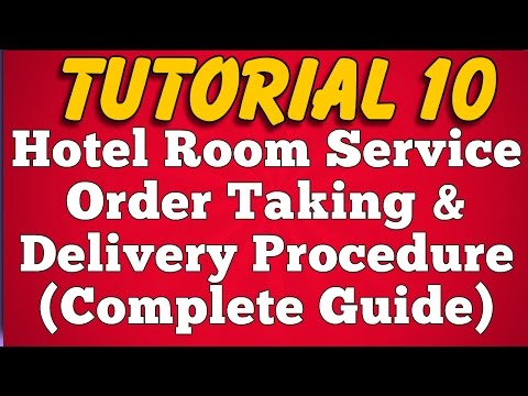 Video Room Service Order Taking and Delivery Procedure in Hotel (Tutorial 10) download in MP3, 3GP, MP4, WEBM, AVI, FLV January 2017
