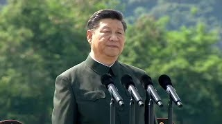 Chinese President Xi Jinping inspected the Chinese People's Liberation Army (PLA) Garrison in the Hong Kong Special...