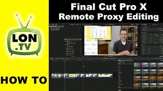 We haven't done a behind the scenes video lately! In this edition I show how I am working with remote video editors using Final Cut Pro X and its awesome proxy media feature to dramatically reduce project sizes.  See more of my production series here: http://lon.tv/production and subscribe! http://lon.tv/sVIDEO INDEX:02:00 - Creating Proxy Media02:51 - Before and After Compression04:24 - Remote Proxied Media Simulation04:58 - How to View Proxied Media05:44 - Exporting Proxy Project07:38 - How to work with Proxy media on the remote side08:22 - Storage and Media ManagementSubscribe to my email list to get a weekly digest of upcoming videos! - http://lon.tv/emailSee my second channel for supplementary content : http://lon.tv/extrasVisit the Lon.TV store to purchase some of my previously reviewed items! http://lon.tv/storeRead more about my transparency and disclaimers: http://lon.tv/disclosuresWant to chat with other fans of the channel? Visit our forums! http://lon.tv/forumsWant to help the channel? Start a Patreon subscription!http://lon.tv/patreonor donate to my Tip Jar! http://lon.tv/tipjaror contribute via Venmo!lon@lon.tvFollow me on Facebook!http://facebook.com/lonreviewstechFollow me on Twitter!http://twitter.com/lonseidmanCatch my longer interviews in audio form on my podcast!http://lon.tv/ituneshttp://lon.tv/stitcheror the feed at http://lon.tv/podcast/feed.xmlFollow me on Google+http://lonseidman.com