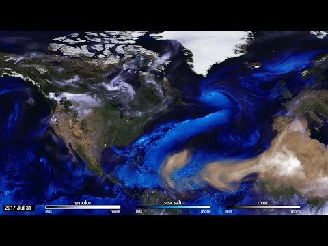 NASA 2017 Hurricanes and Aerosols Simulation