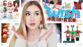 Video TRYING HOLIDAY DECORATIONS FROM WISH!! MP3, 3GP, MP4, WEBM, AVI, FLV Desember 2018