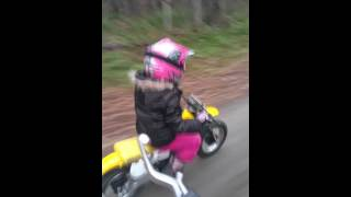9. Alyssia 5 Yrs  Suzuki jr 50