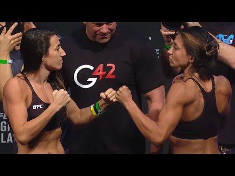 Marina Rodriguez vs. Amanda Ribas - Weigh-in Face-Off - (UFC 257: Poirier vs. McGregor 2) - /r/WMMA