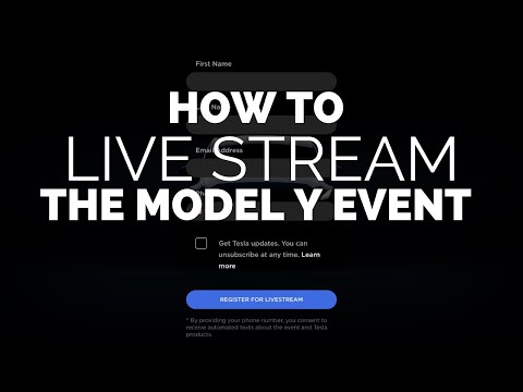 How to Live Stream the Model Y Unveiling Event
