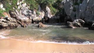 Llanes Spain  City new picture : Playa de Gulpiyuri, Llanes, Asturias, Spain