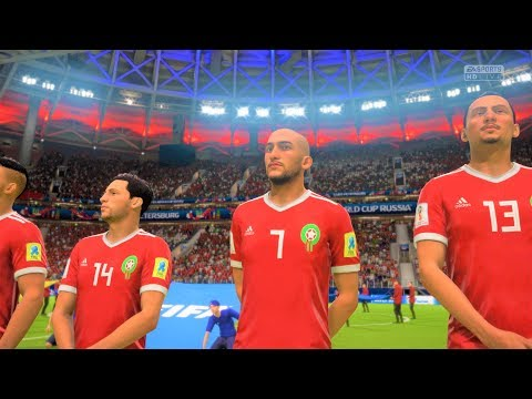 FIFA WORLD CUP 18 MOROCCO VS  IRAN  {PS4} | FIFA 18(FULL GAMEPLAY) [PS4 PRO]