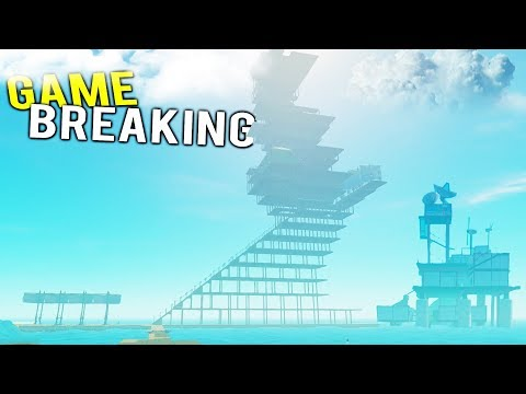 BUILDING THE TALLEST GAME BREAKING RAFT TO REACH THE CLOUDS! - Raft Multiplayer Gameplay 2018