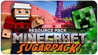 Minecraft Resource Pack: Sugarpack 1.8   Texture Pack Review