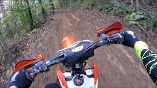 2. Crashing / Demo riding the 2019 KTM 350XC-F