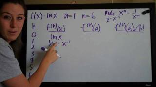 Taylor Polynomial Example 2 PART 1/2