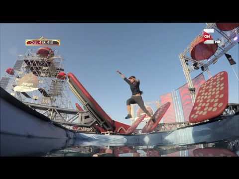 عائق Log Grip يخرج متسابقة يمنية سريعا من Ninja Warrior بالعربي