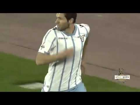napoli - lazio 0-1 il gol di lucic - lazio in finale di coppa italia