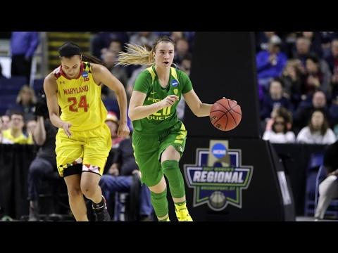 Highlights: Oregon women's basketball upsets Maryland to advance to Elite Eight (видео)