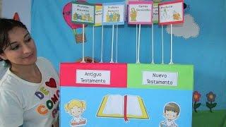 Juego para niños para aprender a clasificar los libros de la Biblia de manera fácil y divertida.
