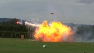 PYROTECHNIC RC AIRCRAFT DISPLAY - SOUTHERN MODEL SHOW HEADCORN STEVE&MATT BISHOP - 2013