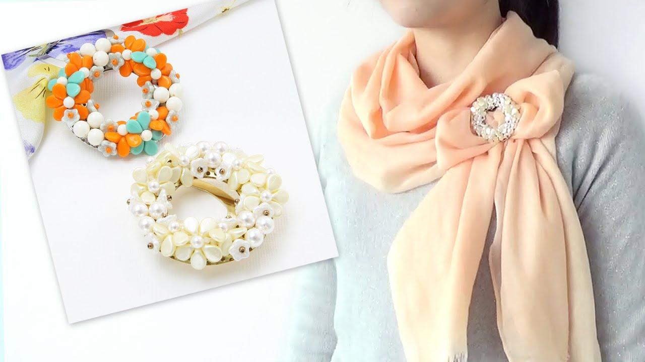 スカーフ留めアレンジ
