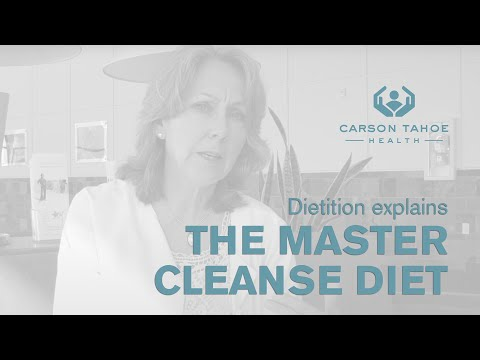 Is a Master Cleanse Diet a Good Way to Lose Weight – Carson Tahoe